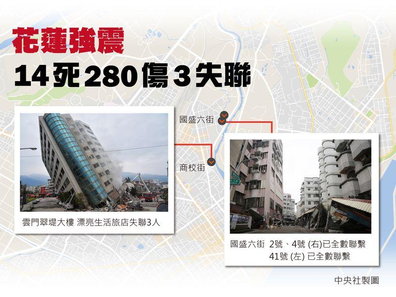 花蓮地震搶救受困