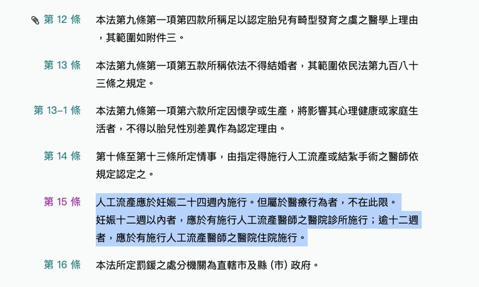 看看台灣現行規範
