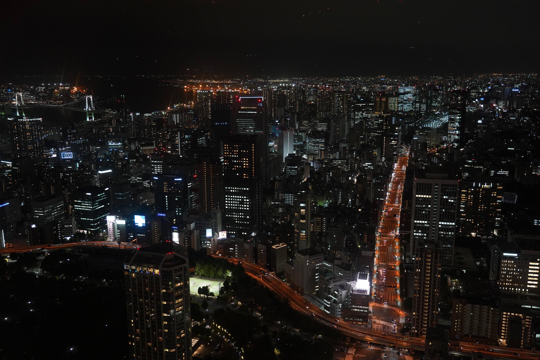 主辦奧運只是起點,日本更重要的目的是建構希望、長久的宜居社會。圖為東京夜景。(中央社記者吳家昇攝)