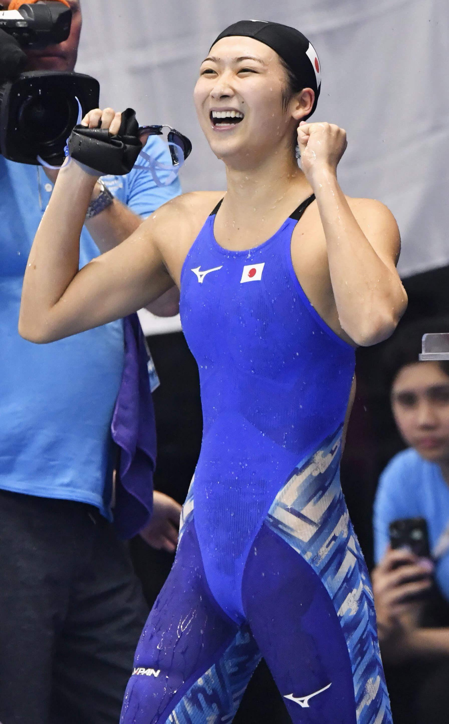 池江璃花子2018年在雅加達—巨港亞運大放異彩,「泳奪」6金、獲選大會MVP。(檔案照片/共同社提供)