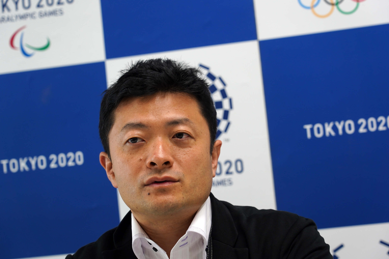 東京奧帕運組織委員會報導擔當課長加藤謙太郎原任職東京都政府,曾負責2016年里約奧運日本代表團及當地日本旅客的維安工作。(中央社記者吳家昇攝)
