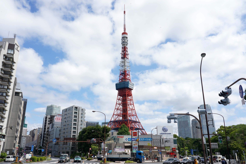 東京鐵塔曾是1964年東京舉辦奧運的經濟起飛象徵。(中央社記者吳家昇攝)